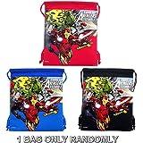 Marvel Avengers Drawstring Bag Red , Blue or Black Randomly (1 BAG ONLY)