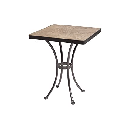 OW Lee Monterra Dining Table Base With 24u0026quot; Square Top In Copper Canyon  Finish,