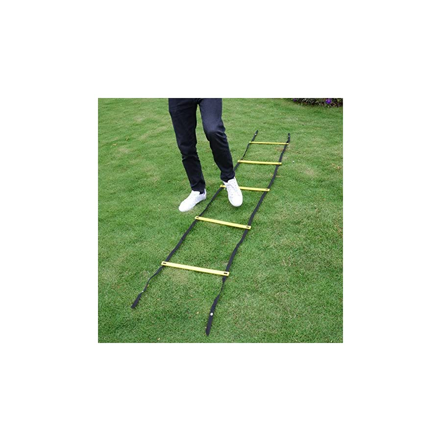 Kearui Speed Training Agility Ladder Quick Sports Ladder 12 Rung 6m Speed Training Equipment Adjustable Exercise Tool with Carry Bag for Soccer, Speed, Football Fitness Feet Training