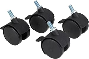 """Office Home Furniture Accessories 1.5"""""""" Swivel Wheel Caster Chair Caster Brake Pack of 4"""