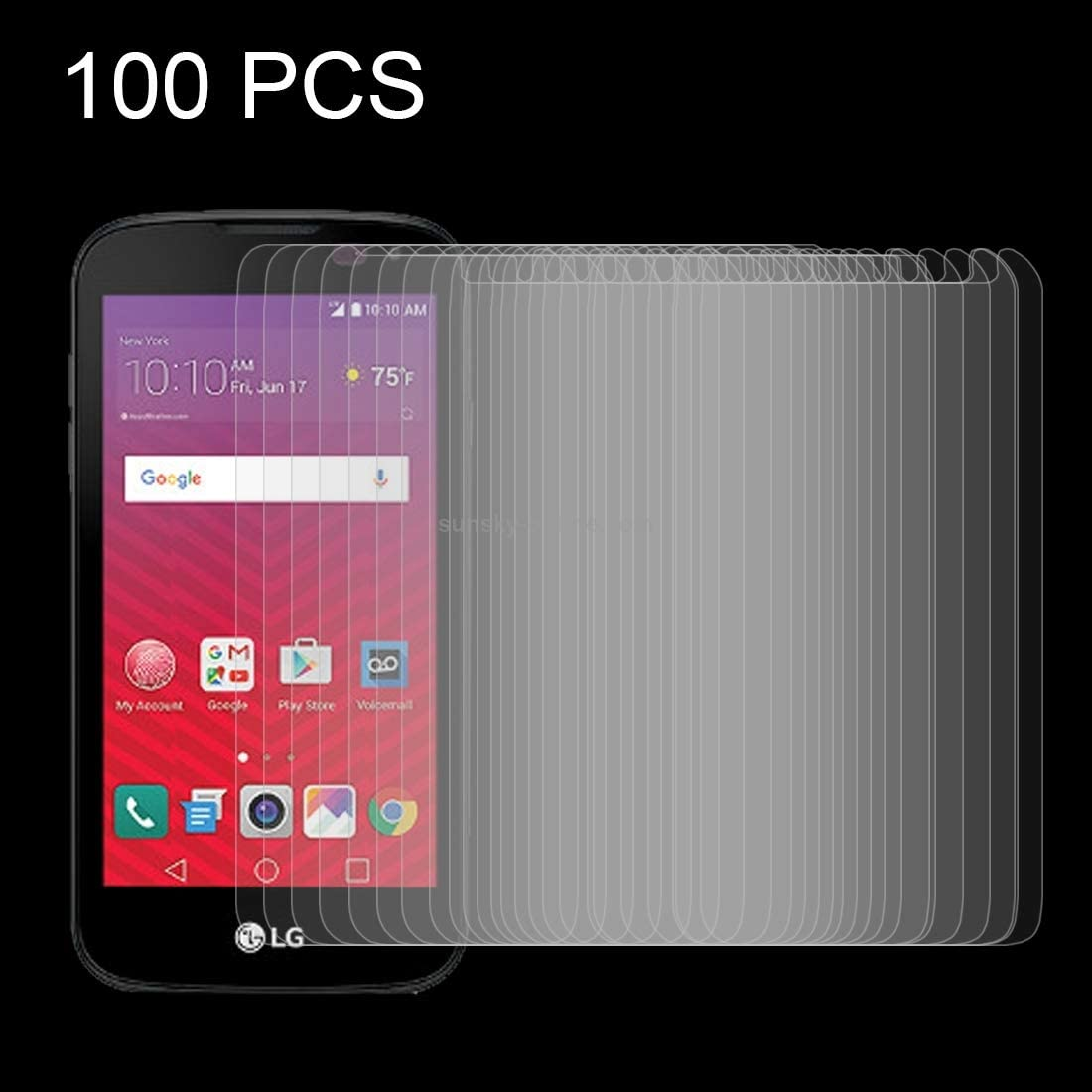 0.26mm 9H Surface Hardness Explosion-Proof Tempered Glass Screen Film Tempered Glass Film 2017 XHC Screen Protector Film 100 PCS for LG K3