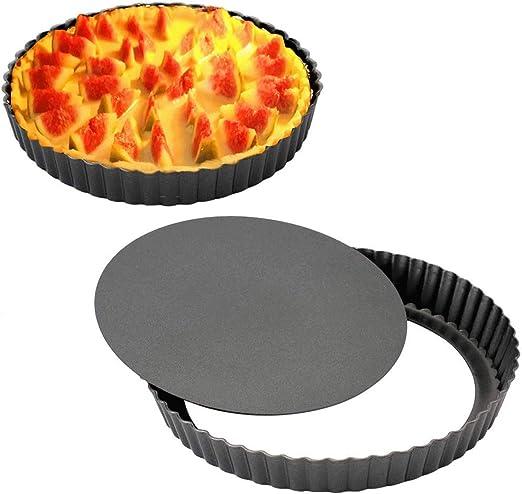 4 Inch Gutsdoor Mini Tart Pan 4 Inch with Removable Bottom Quiche Pan Nonstick Heart-shaped Quiche Pie Pan Set of 6