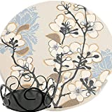ENKORE Ceramic Coasters Dogwoo