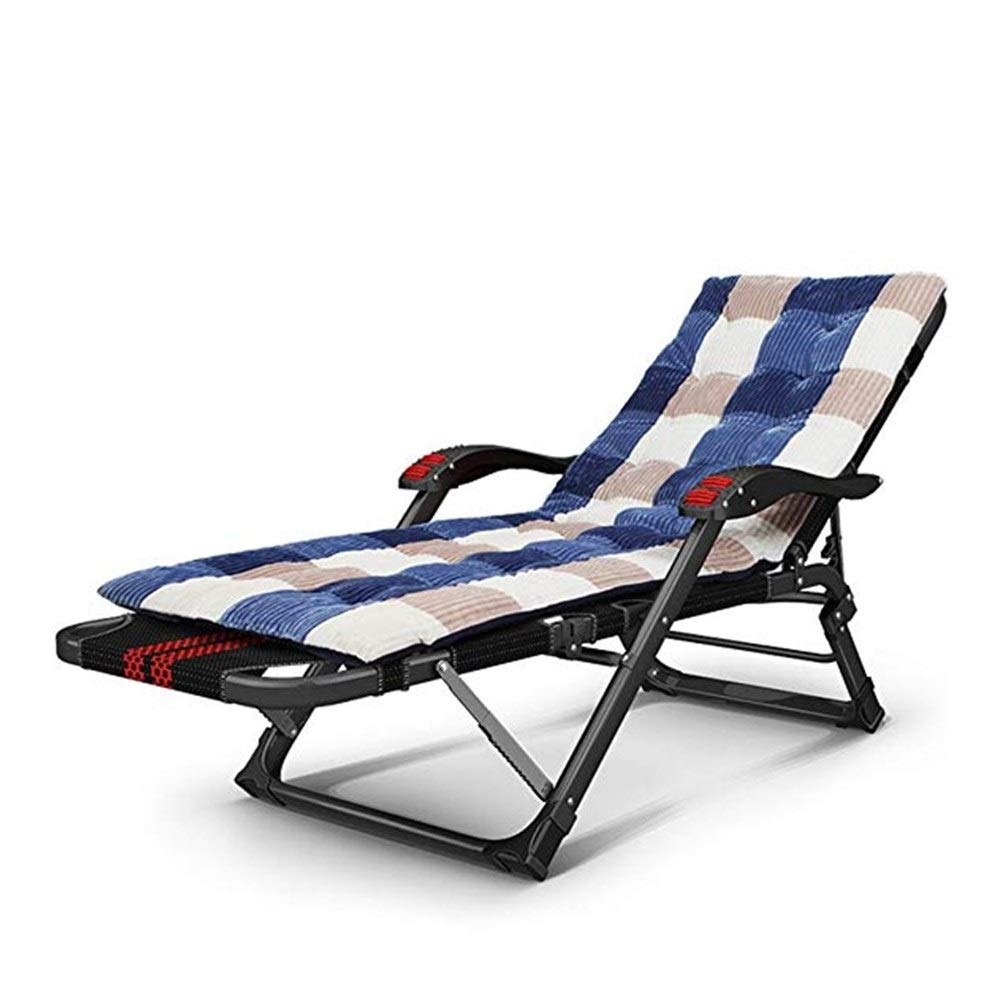 YYTLTY Folding Chair Deck Chairs, Beach Chairs, Multi-Purpose Siesta Bed, Portable Couch, Available in All Seasons,Foundation Load Capacity 150kg (Color : B) by YYTLTY