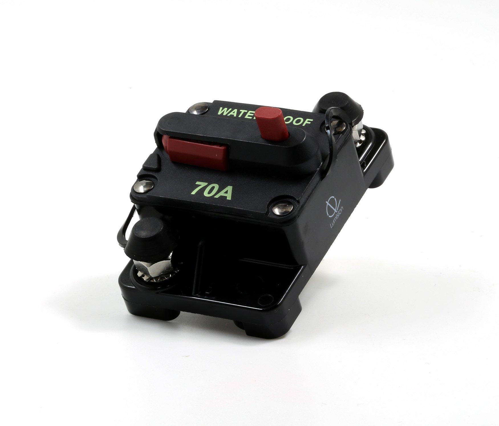 Lumision Waterproof Automotive Circuit Breaker Manual Reset upto 48VDC 70AMP by Lumision (Image #2)