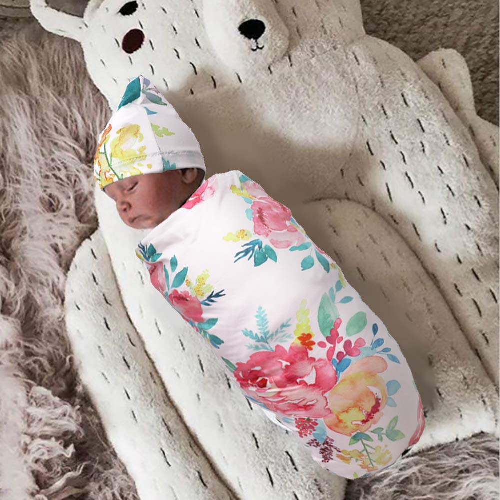 Baby Muslin Swaddle Blanket Hedgehog//Bonsai//Flower Soft 100/% Cotton Wrap Swaddle for Boys and Girls Set of 3