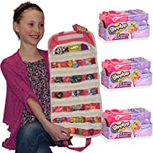 Shopkins Season 7 Blind Baskets Bundle with EASYVIEW Toy Organizer Case and 3x Mystery 2-Packs