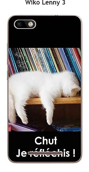 Onozo Carcasa Wiko lennyâ 3 Design Gato Blanco Que Duerme ...