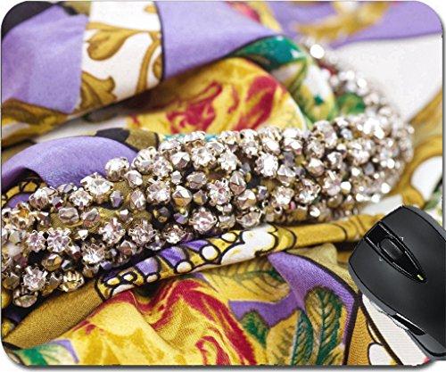 Allure Footwear (MSD Mousepad Mouse Pads/Mat design 19912063 Beautiful jewelry collar on dress)