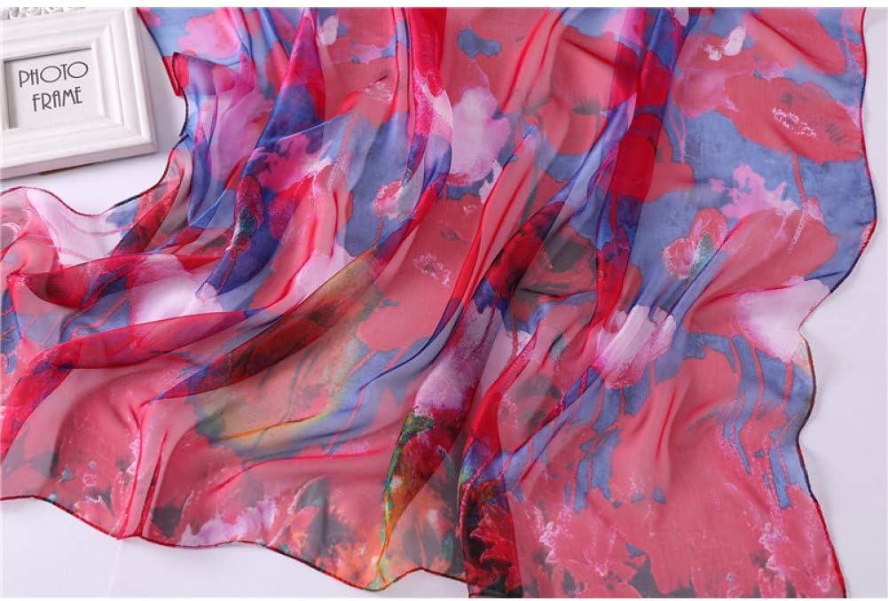YUFSHU Sciarpe E Sciarpe Estive In Seta Da Donna Sciarpe Con Stampa Morbida Sciarpe Pashmina Di Grandi Dimensioni Hijab Femminili Stole Da Spiaggia