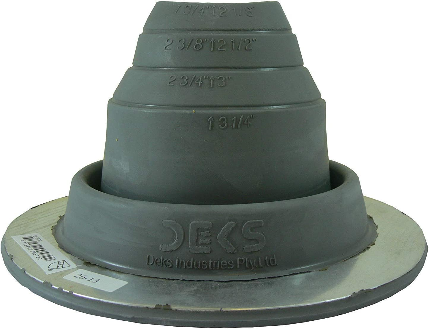 High Temp Red//Gray On Site Adjustable Roof Pipe Jack Boot with Round Base - EAGLE 1 EPDM Flexible Roofing Pipe Flashing Boots Standard - Zipper, 2