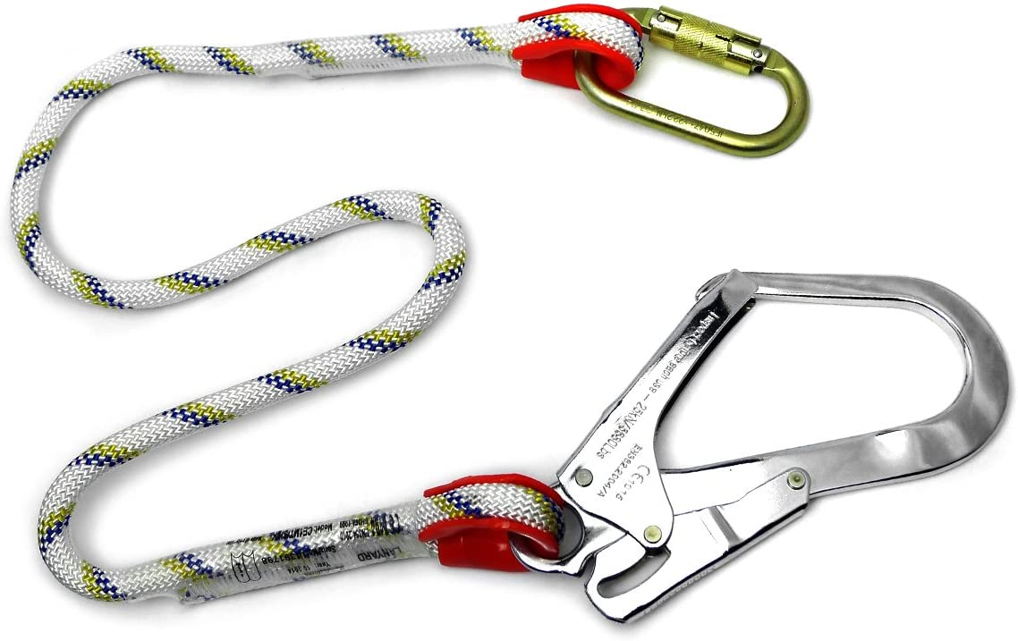 Clow PPE Safety Harness Accessories 1m Rope Lanyard
