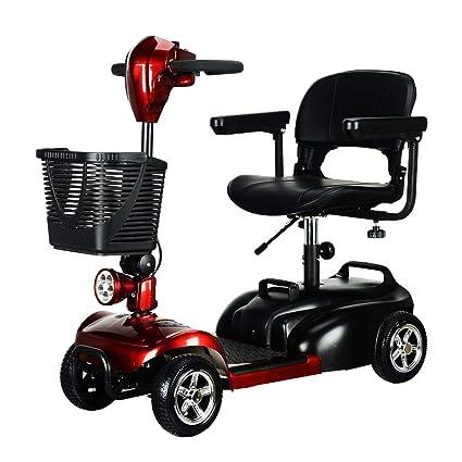 KMCQA Powered Movilidad Scooter Senior Inteligente Eléctrico Móvil Silla de Litio Batería de Cuatro Ruedas de