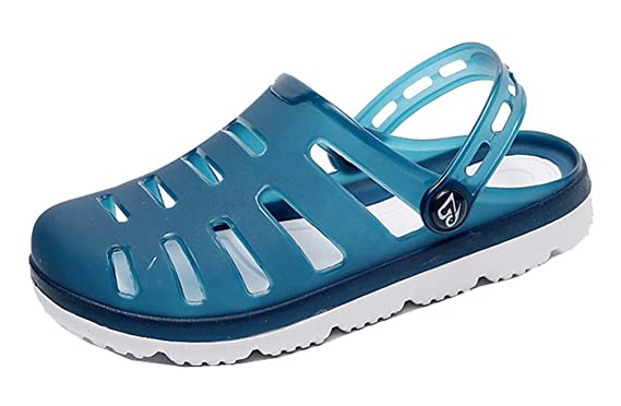 398ea80a676fa1 FEMAROLY Hole Sandals Men s Beach Shoes Summer Leisure Non-slip Slippers  Sandals Blue 7M