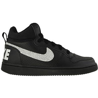 online store 0a8df 7418a Nike Court Borough Mid (GS), Chaussures de Basketball garçon, Noir (Black