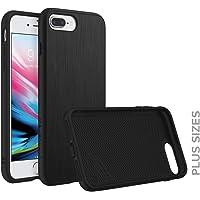 RhinoShield Coque pour iPhone 8 Plus/iPhone 7 Plus [SolidSuit] Housse Fine avec Technologie Absorption des Chocs & Finition Premium - [Résiste aux Chutes de Plus de 3,5 mètres] - Métal brossé/Noir