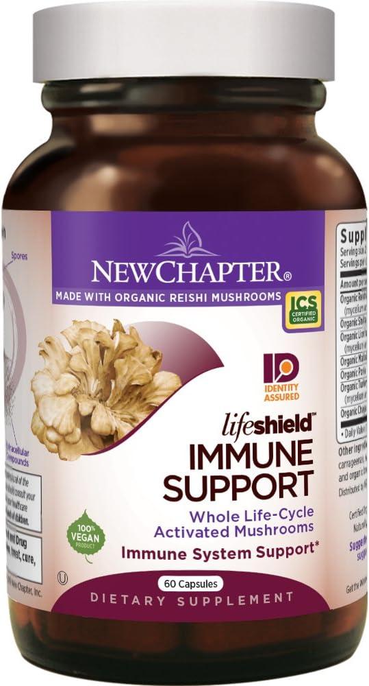 New Chapter Reishi Mushroom - LifeShield Immune Support with Organic Reishi Mushroom Vegan + Non-GMO Ingredients - 60 ct