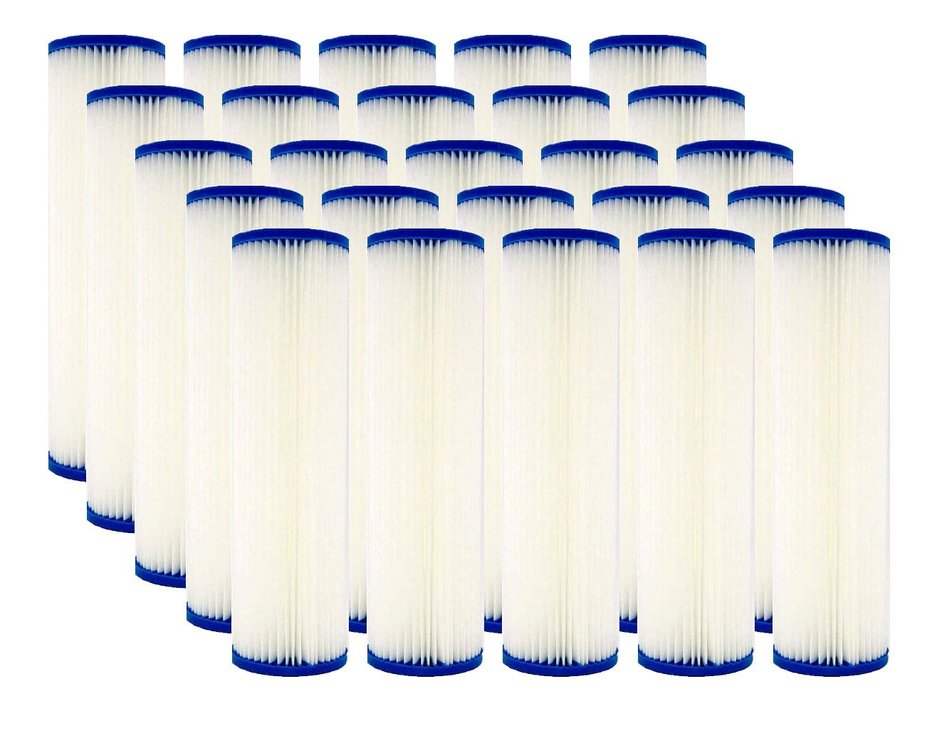 IPW Industries Inc WHKF-WHPL SPC-25-1050 5 Micron 10 x 2.5 Pleated Sediment Water Filter Cartridge Universal Replacement for Any 10 inch RO Unit 801-50 Compatible with R50 WB-50W WFPFC3002