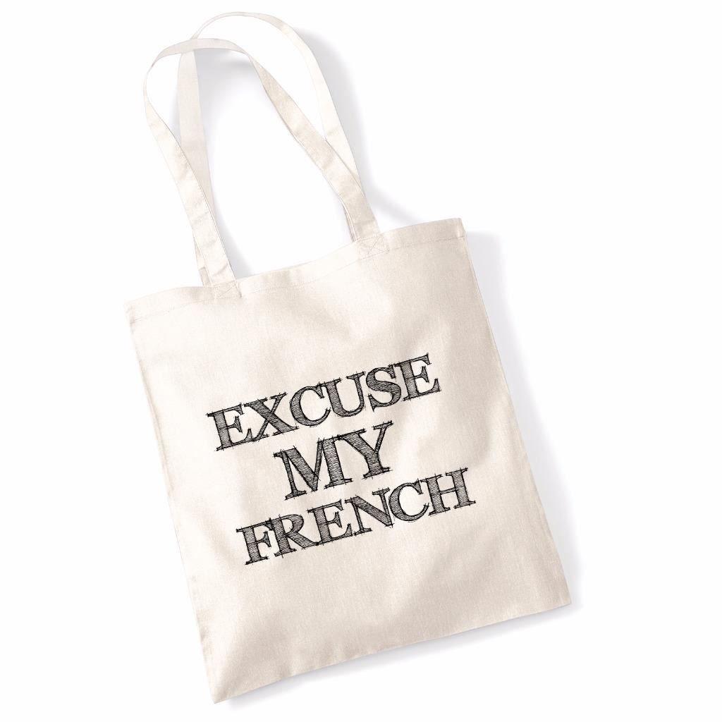 5855b4eee1c9 Amazon.com  Printed Tote Bag Slogan Women s Gift Idea 100% Cotton