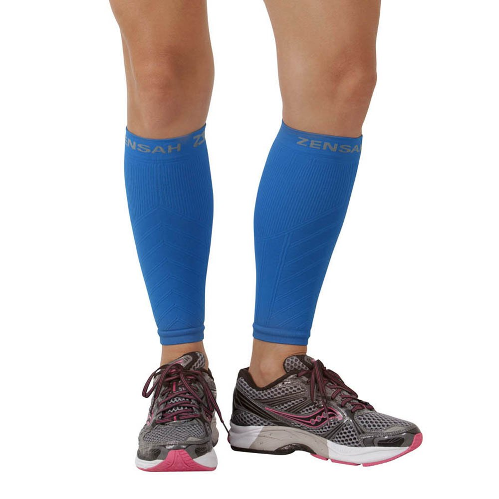 Zensah Compression Leg Sleeves - Blue - XS/S