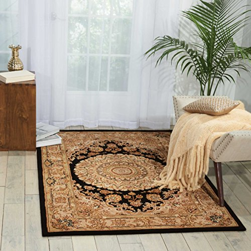 Nourison Nourison 2000 (2233) Black Rectangle Area Rug, 2-Feet by 3-Feet  (2′ x 3′)