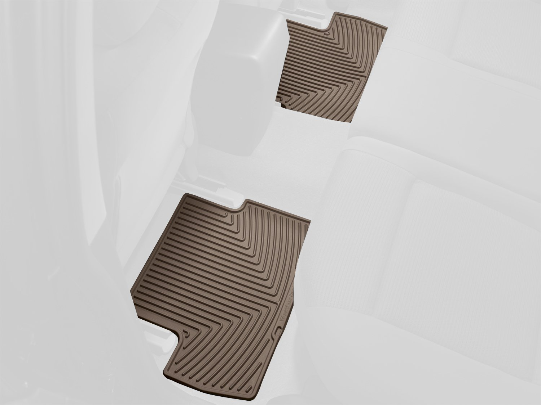 WeatherTech W236TN-W136TN Floor Mat, Rubber, Front//Rear, Tan