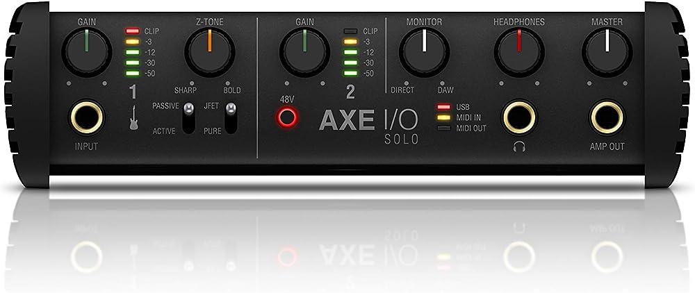 AXE I/O Solo:フロントパネル