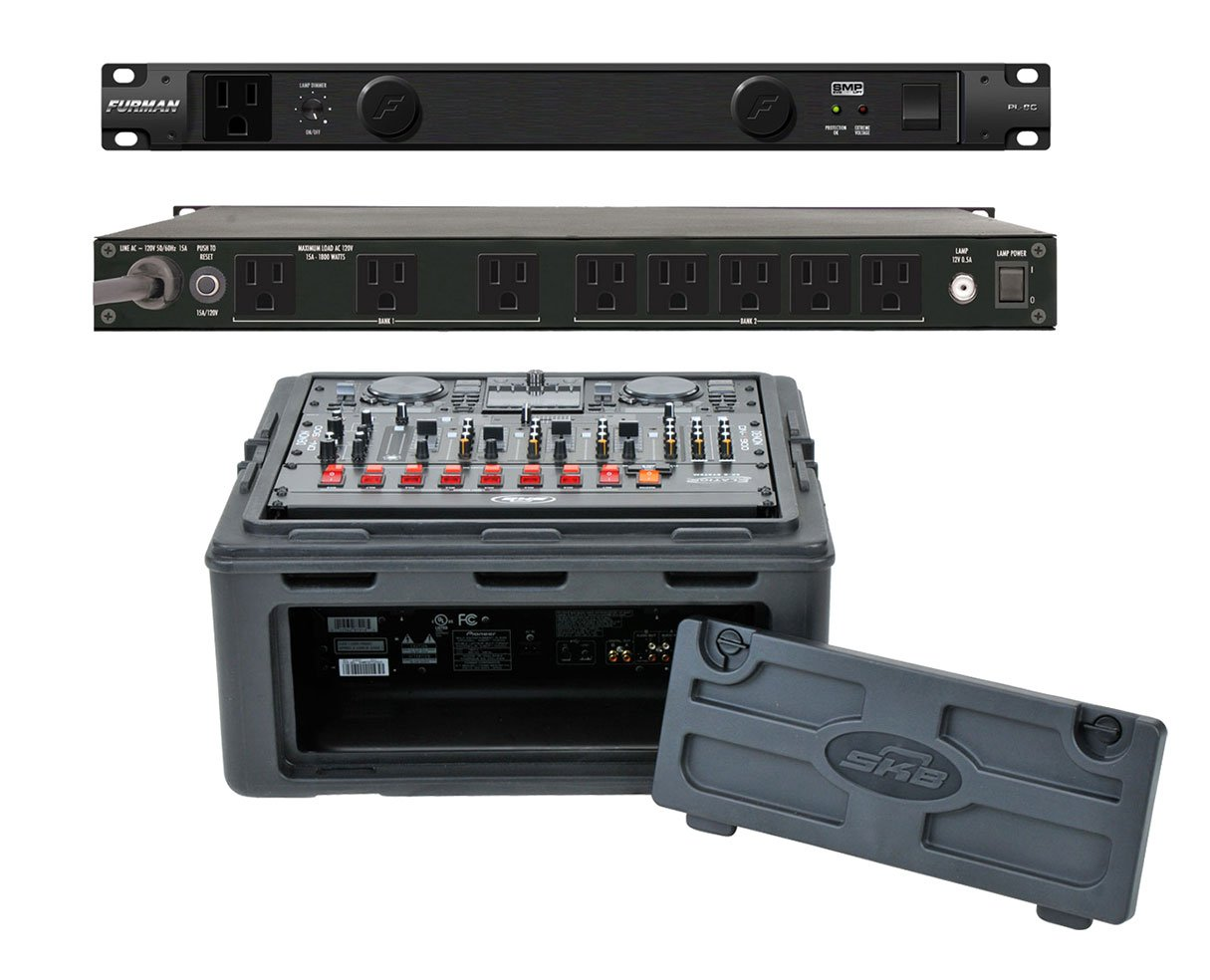 Furman PL-8 C Rack Mount Power Conditioner + SKB 1SKB-R102 10U x 2U Slant Combo
