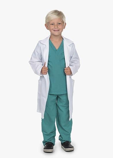 Littles Doctor Uniform Scrubs Toddler Halloween Costume Dr