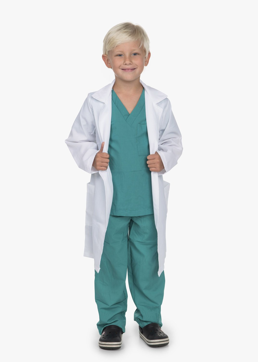 Kidcostumes Doctor Medical Scrubs with White Lab Coat Child Youth (M 6X-8 Child)