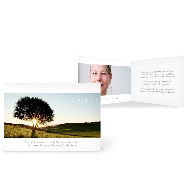 Greetinks 30 x Trauerkarten 'Sonnenuntergang' in Weiß   Personalisierte Karten zur Trauer zum selbst gestalten   30 Stück Sterbebilder B07HC6L9NG | Um Eine Hohe Bewunderung Gewinnen Und Ist Weit Verbreitet Trusted In-und   | Ab dem neuesten Mo