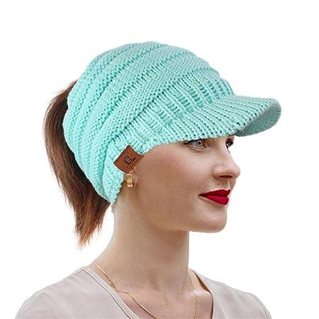 Mitlfuny Frauen Damen Winter Stricken Krebs Hut Mütze Turban Kopf