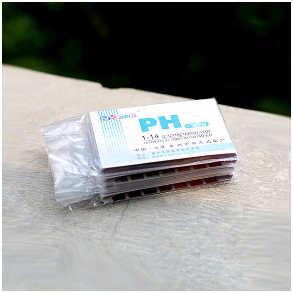 LPATTERN PH test strips, Full Ph 1-14 Test Indicator Litmus Paper Strips Tester for Saliva Urine Water Soil Testing 5 Packs (80 Paper Per Pack): Amazon.com: ...