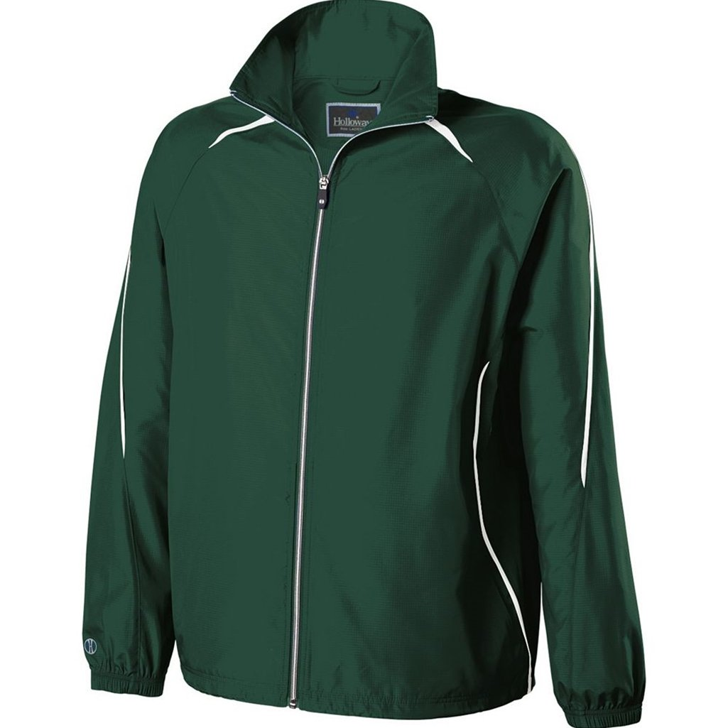 Holloway Youth Invigorate Jacket (Large, Forest/White) by Holloway