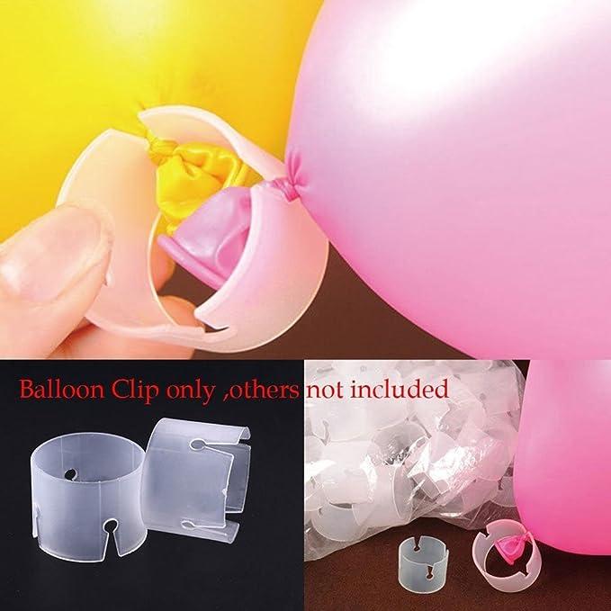 4 opinioni per NUOLUX Palloncino arco connettori Clip fibbia anello a palloncino, 50pcs