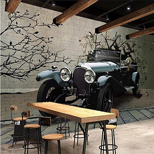 HUANGYAHUI Murals 3D Car Break Down Walls And A Non-Woven Cloth Wall Paper Murals Restaurant Night Club Ktv Lounge Bar Background Wall Paper - Restaurant Lounge