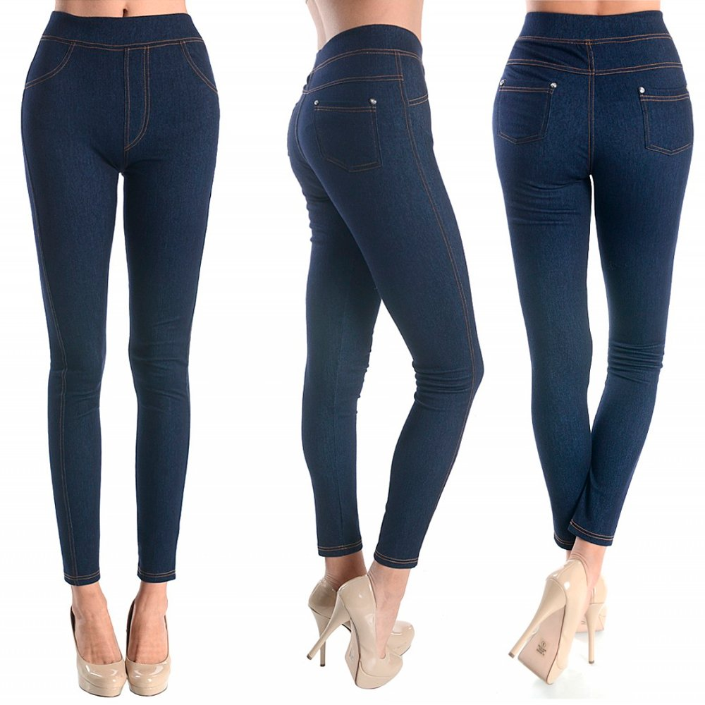 7703d85900376 Amazon.com  Women Skinny Jeggings Blue Stretchy Sexy Pants Pencil Leggings  Jeans Soft New SM  Cell Phones   Accessories