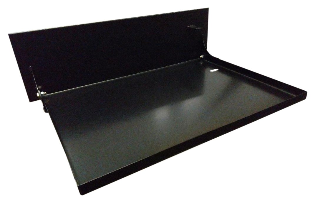Fleming Sales 52609 Black 22'' x 16'' Uiversal RV Folding Table