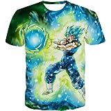 qingduomao Unisex Dragon Ball Z T-Shirt 3D Goku Anime Shirt Graphic Printed Short Sleeve Tee Tops