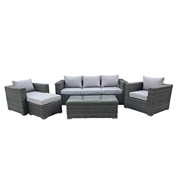 Bentley Garden - Salon de jardin 5 pièces - fauteuils/table ...