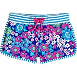 Coolibar UPF 50+ Girls' Wavecatcher Swim Shorts - Sun Protective (Small- Bold Flowers)