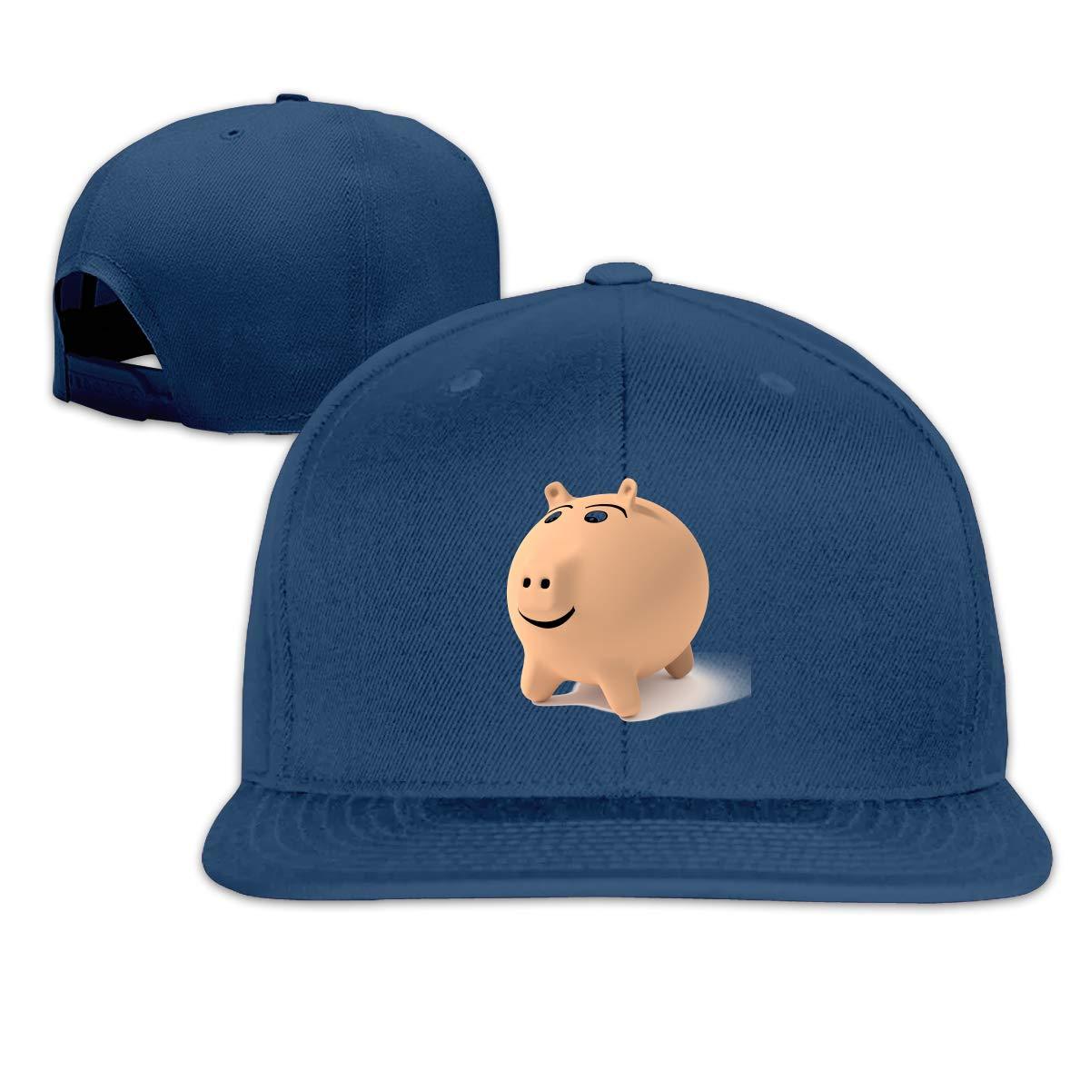 Lucky Pig Flat Brim Baseball Cap Adjustable Snapback Trucker Hat Caps Hip Hop Hat