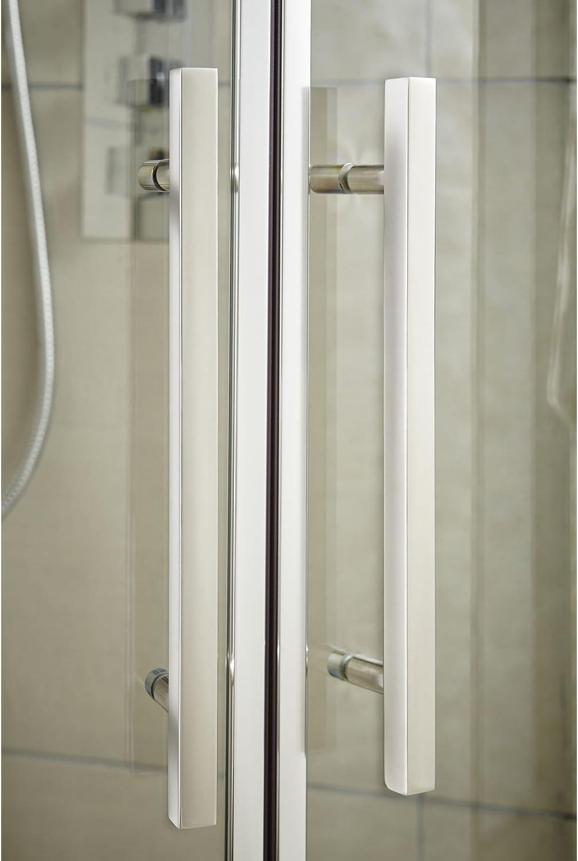 Hudson Reed M1080Q-E8 Mampara de ducha, transparente, 1000x800 ...