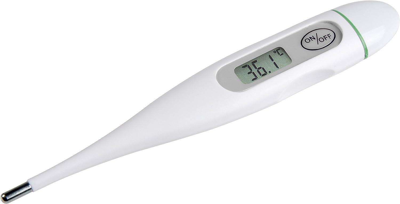 Medisana FTC Termómetro clínico digital para bebés, niños y adultos, oral, axilar o rectal, a prueba de agua con alarma de fiebre