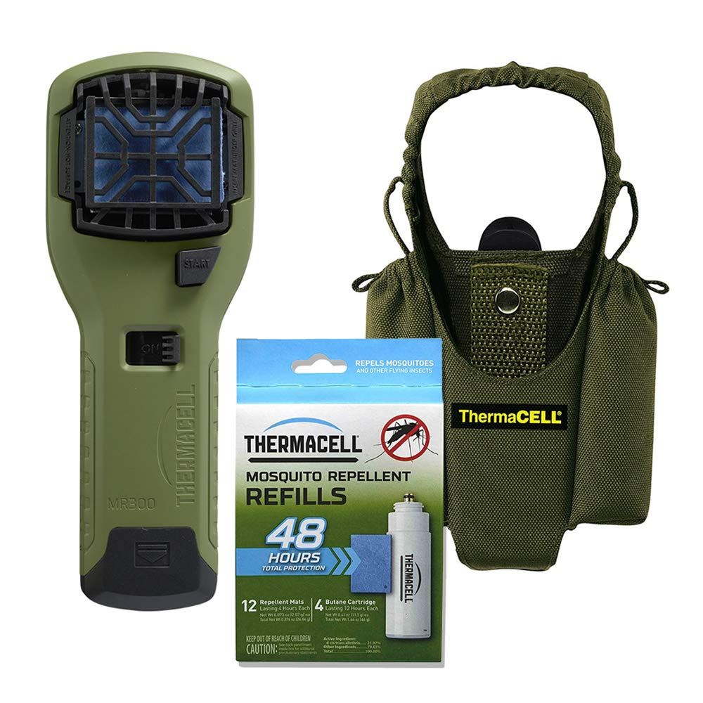 Thermacell Campers Kit Mosquito Repellent Appliance Repeller Insect And Bug Electronic Olive Holster 4 Single Refills Garden Outdoor