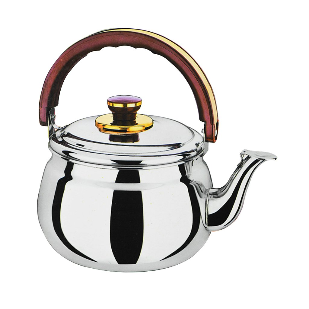 D DOLITY Whistling Tea Kettle Stainless Steel Teapot Stove Top Fast Boil Water Coffee - 0.6L