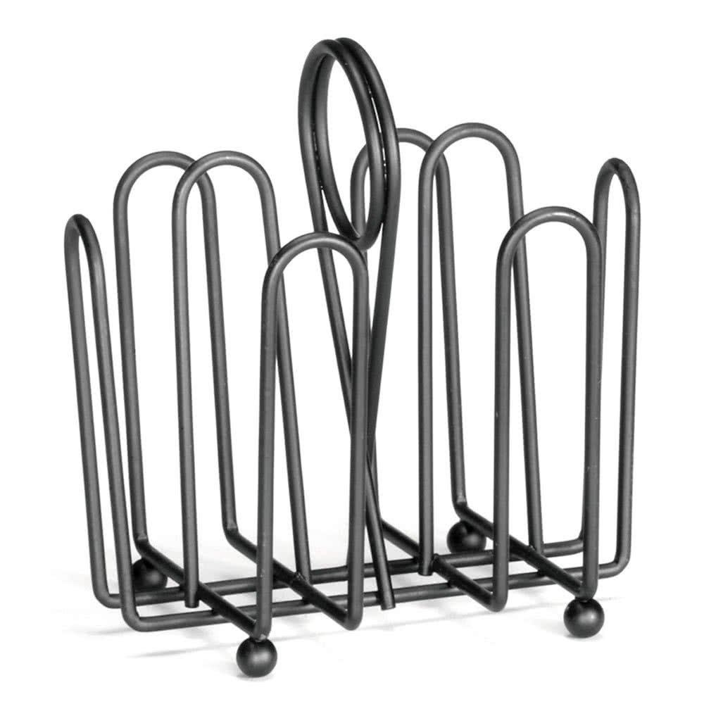 597CBK Black Wire Jelly Packet Rack - 12/Pack By TableTop King