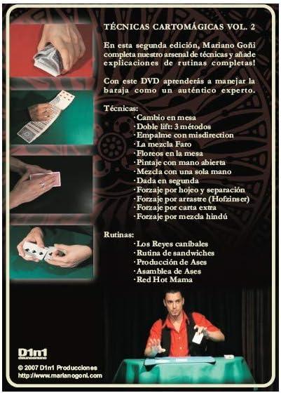 Mariano Goñi - Técnicas cartomágicas vol. ii - mariano goñi (dvd en esp): Amazon.es: Juguetes y juegos