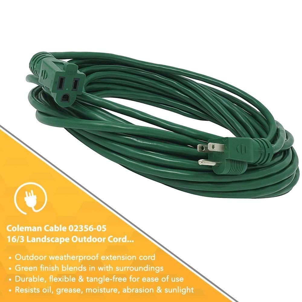Amazon.com: Coleman Cable 2356 16/3 Vinilo Paisaje al aire ...