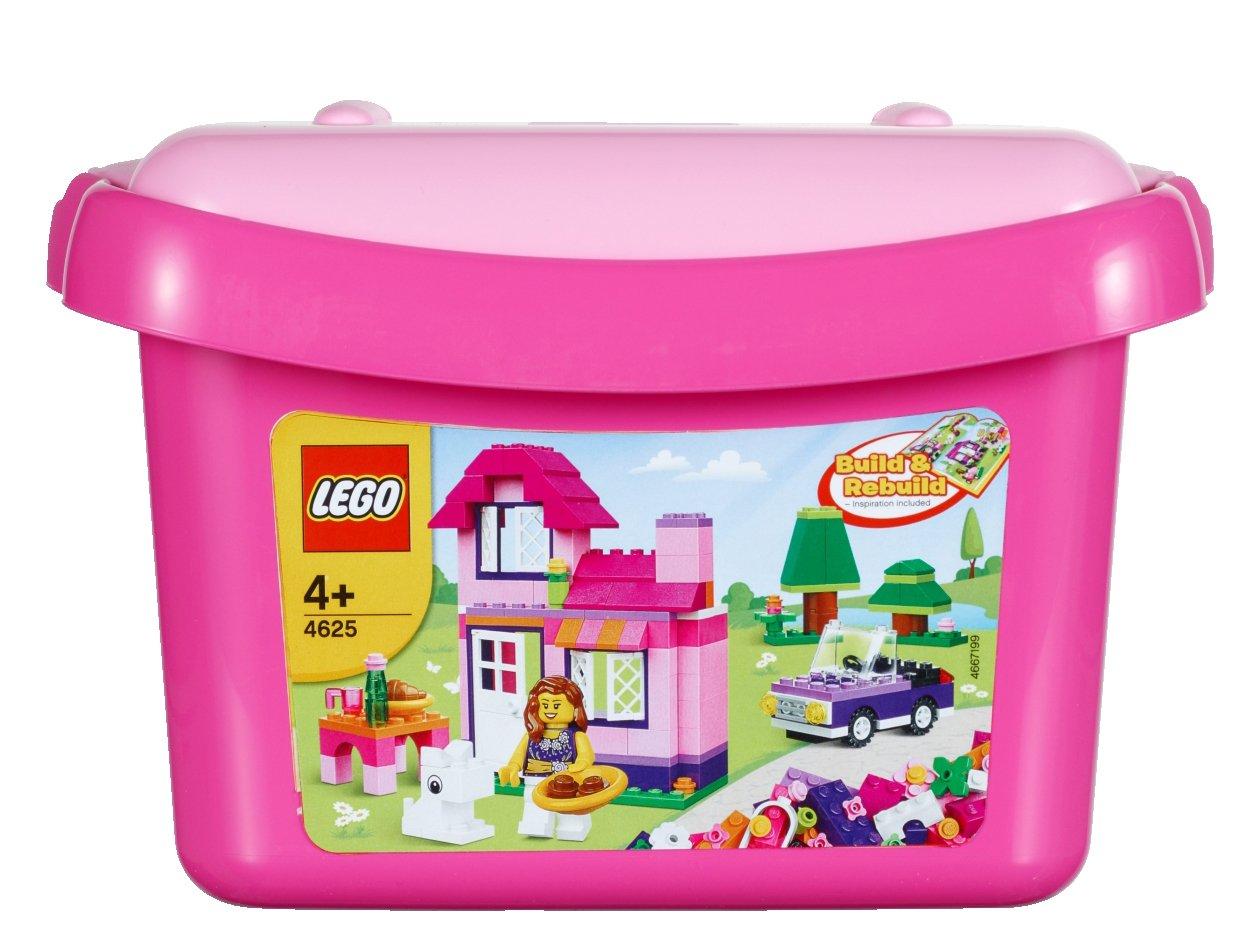 lego briques 4625 jeu de construction bote de briques fille amazonfr jeux et jouets